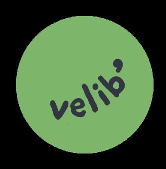logo vélib vert